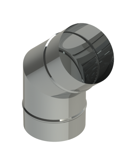 """10"""" Diameter Grease Duct 45 Degree  Elbow No Access Panel"""