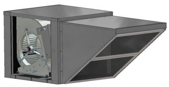 Belt Drive Inline Outdoor Fan 800-1450 CFM